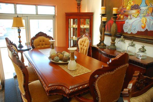 Homero muebles tradicion comedor comtemporaneo for Juego de comedor de 8 sillas moderno