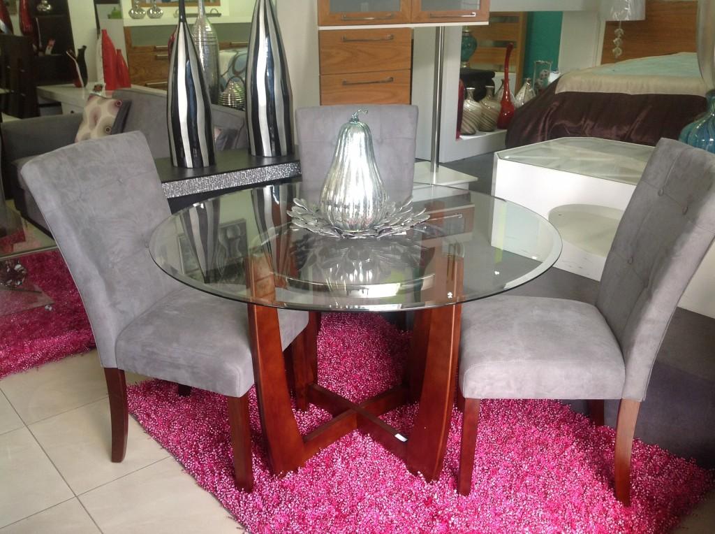 Elegante juego de comedor moderno homero muebles Juego de comedor 4 sillas moderno