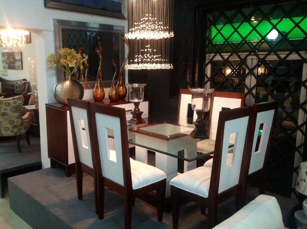 Homero muebles comedor moderno blanco en caoba - Lamparas para comedores modernos ...