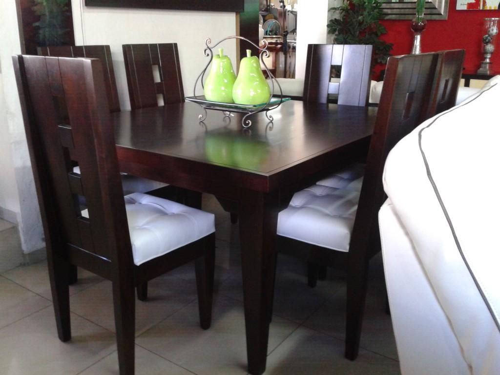 Homero muebles comedor caoba y blanco - Comedores modernos en vidrio ...