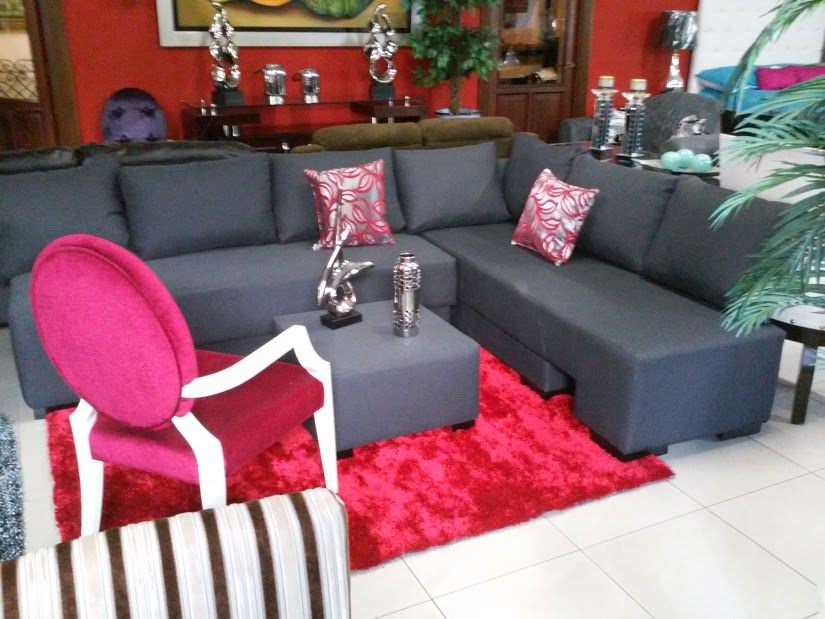 Juego de sala l gris sofa cama homero muebles Muebles en l para sala