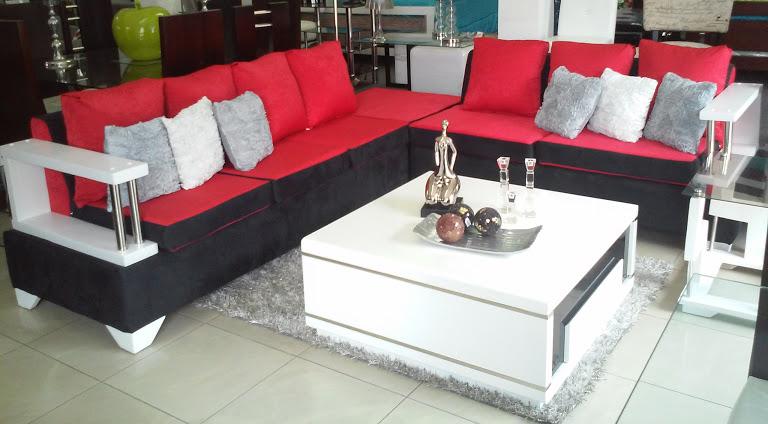 Fotos muebles en l juego de muebles l moderno y mesa for Juego de muebles moderno